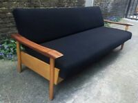 1960's Mid Century Danish Design Teak Sofa Bed