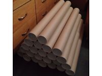 24 x A1 3 Inch Postal Tubes Packing Tubes + End Caps | Poster Cardboard Tube