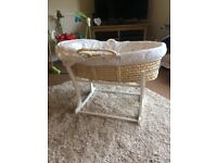 Mothercare Lullaby Moon Moses Basket
