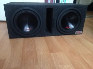 "2 10"" Alpine Type R's Pioneer Amp In Ported Atrend Box $600"