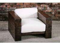 solid oak outdoor seating beam seats