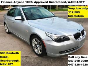 2010 BMW 5 Series 528i FINANCE WARRANTY FINANCE 100% APPROVED