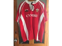 One large and one 3xl Wales rugby shirts