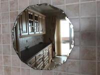 Vintage bevelled mirror