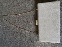 Champagne sparkling clutch bag only used once