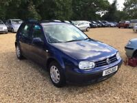 2000 Volkswagen Golf 1.6 S 8 Months MOT 2 Former Keepers Cheap Car