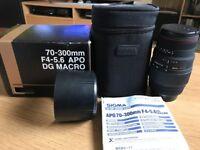 Sigma 70-300mm F4-5.6 APO DG MACRO lens (Canon)