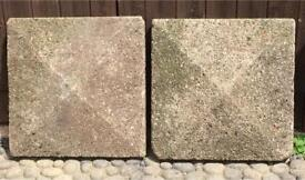 WALL OR GATE PILLAR CAP STONES CAPPING STONES 1960's / 70's