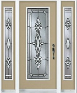Single Front Entry Door and Two SideLights 0