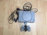 Sony Playstation 1 Dual Shock Controller Bundle Grey Console