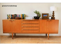 vintage sideboard genuine McIntosh teak danish design mid century tv stand