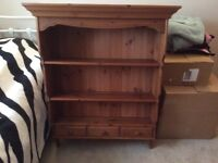 Solid Pine Display Unit with 3 small Draws
