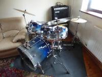 6-Piece Drum Kit - Mapex Saturn Pro Blue - sold