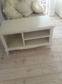 Ivory tv cabinet