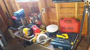 Tools power and shop and garden