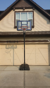 Life Time Basketball Hoop Set Up - Excellent Condition