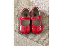 Toddler girls Red Patent shoes - UK size 5