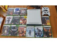 XBOX 360 Console and 12 GAME BUNDLE AND TWO CONTROLLERS