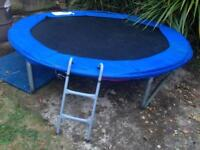 Trampoline with safety net & swimming pool -good condition