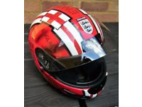 "HJC CS-12 ""England"" Motorcycle Crash Helmet Large 60cms"