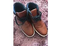 Brown trainer boots size 10