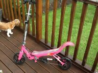 Used Girls Pink Space Scooter (age 8 and over)