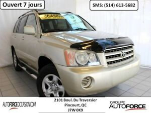 2002 Toyota Highlander 4WD 6CYL AC MAGS TOUTE EQUIPE