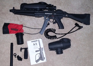 A5 E-Grip ( full automatic) paintball marker with upgrades.