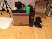 250GB Xbox 360 with 30+ Games and 2 Controllers (Scuf Gaming)