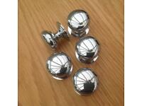 Used excellent quality brass door knobs chrome finish 5
