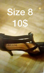 High heels price and size on picture