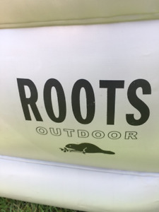 ROOTS AIR MATTRESS-SINGLE WIDTH-DOUBLE HEIGHT-INFLATING PUMP