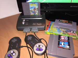 Nintendo and Super Nintendo player with Donkey Kong and more.