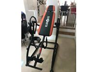 ALMOST NEW INVERSION TABLE BACK HANG UP PAIN RELIEF HANG-UP GYM FITNESS INVERT SWING
