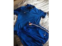Brand new Nike football kit blue/black