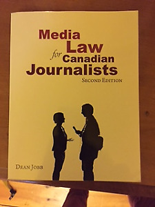 Media Law for Canadian Journalists Paperback 2010
