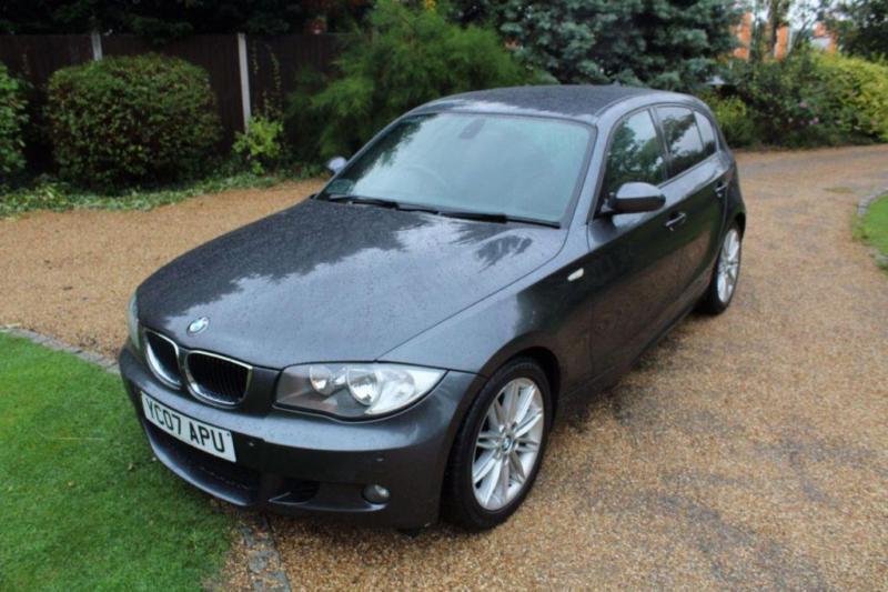 CHEAP CAR - 2007 07 BMW 1 SERIES 2.0 120D M SPORT 5D 175 BHP DIESEL