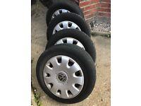 VW Golf MK5 wheels, tyres and hub caps