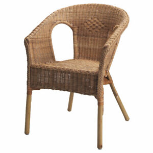 Ikea Wicker Chair with Cushion (Black, Gray, White, Taupe New
