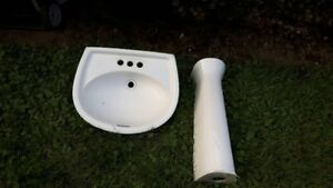 ceramic sink with stand