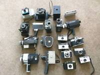 Vintage cameras and cases job lot
