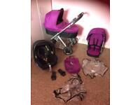 Oyster travel system Pram buggy stroller maxi cosi ect