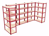 Bay Shelving Unit Heavy Duty 5 Tier Shelf Steel Racking