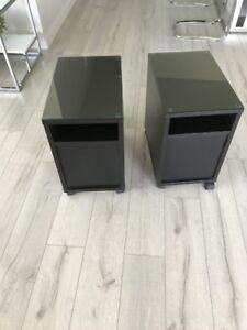 IKEA MALM END TABLES