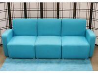 Office reception, Blue modular sofa units