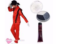 MENS LARGE MICHAEL JACKSON THRILLER ZOMBIE JACKO COSTUME POP KING HALLOWEEN FANCY DRESS SUIT