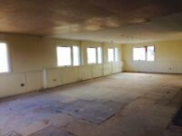 2nd Floor Office to let, large open plan space, loos