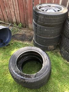 Tires and rims 205/50r17 with rims 205/50r16 without rims