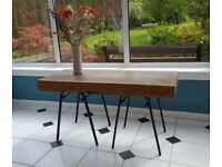 Industrial style pine table