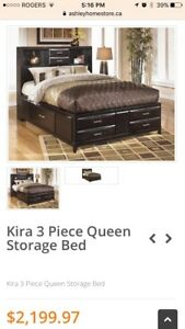 PPU Kira Queen Storage Bed Frame from Ashley Furniture